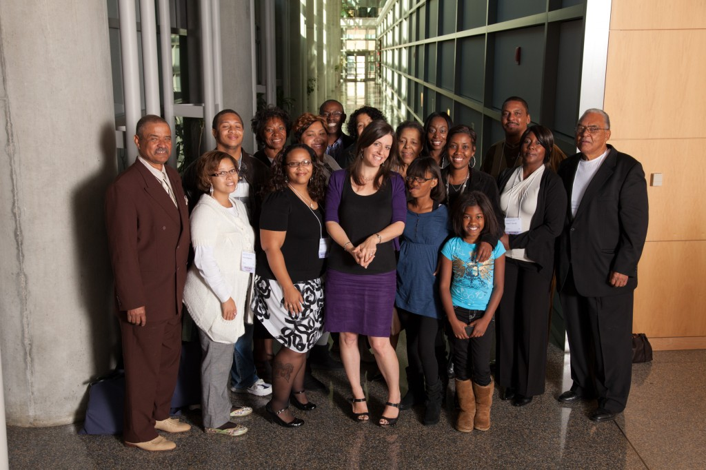 Members of the Lacks family with author Rebecca Skloot