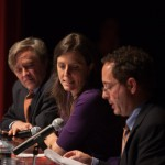 Dr. Daniel Ford, Rebecca Skloot and Dr. Jeremy Sugarman during panel discussion