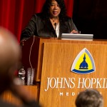 Harriet Washington delivering keynote address