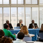 Revs. Melvin Dupree, Susan Roy and Alfred Chandler during breakout session