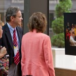 Guests viewing art show