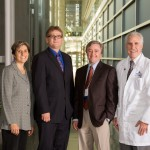 David Ewing Duncan with Drs Nancy Kass, Daniel Ford and Paul Rothman