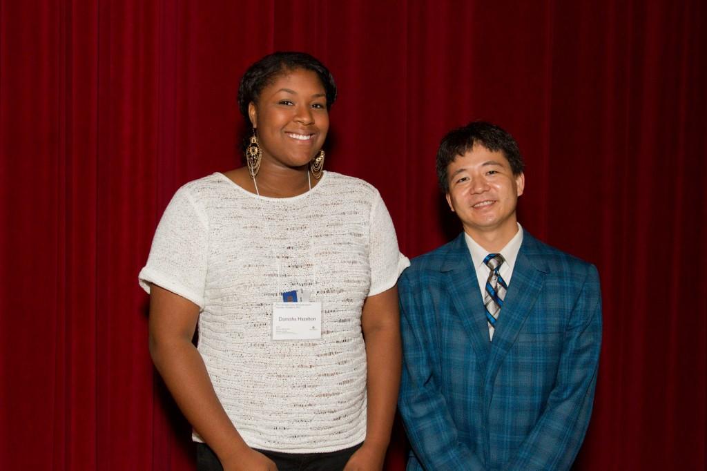 Damisha Hazelton, Henrietta Lacks Dunbar Scholarship recipient and Dr. Daniel Teraguchi
