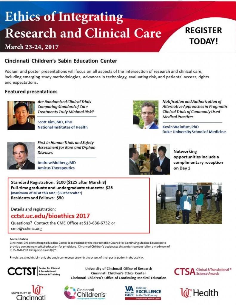 University of Cincinnati CTSA Bioethics Conference
