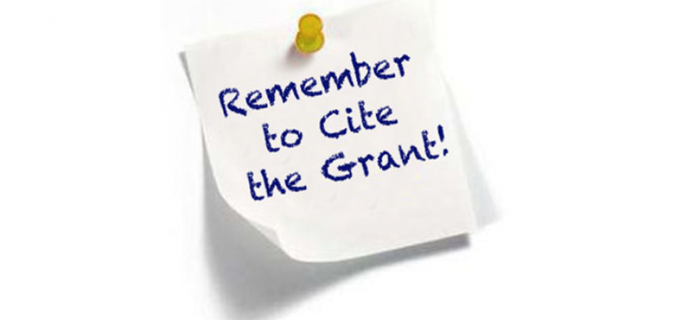 Remember to Cite the Grant